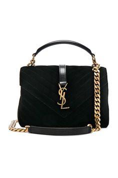 Shop for Saint Laurent Medium Velvet Monogramme College Bag in Black at  FWRD. Carol Green · ARM CANDY 50eb60b29f
