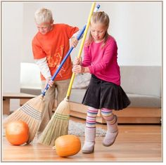 PUMPKIN ROLLING  ~  Nothing like a quick race around a few obstacles to make this a great Halloween party game.