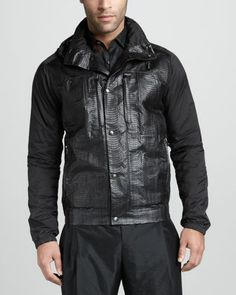 Snakeskin-Front Parka by Lanvin at Neiman Marcus. Original: CAD 6,471.04 NOW: CAD 2,911.41