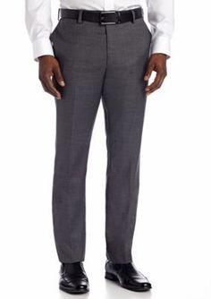 Louis Raphael Charcoal Comfort Serge Dress Pant