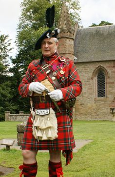 Sir Evan Macgregor Murray at Scone Palace, Perth, Scotland. McGregors are cousins to the Bells.