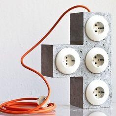 tetriplug 'the T' Beton Design, Cement Design, Cement Art, Concrete Cement, Concrete Furniture, Concrete Crafts, Concrete Projects, Diy Design, Art Concret