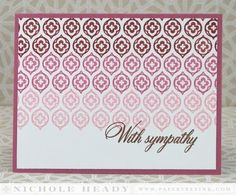 Ombre Sympathy Card by Nichole Heady for Papertrey Ink (May 2014)