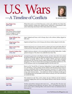 U.S. Wars - A Timeline of Conflicts  The Old Schoolhouse Magazine - February 2013 - Page 118-119