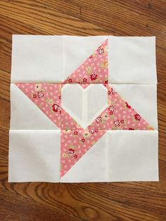 "A Quilting Sheep: Friendship Love - A tutorial-This is the block I have asked for them to make for me. It's simply a friendship star with a heart in the middle. Easy! -Here is the tutorial for a 12"" finished block."