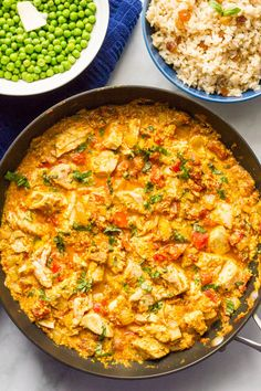 Quick chicken curry is an easy, one-pan recipe that's ready in just 15 minutes -- perfect for a busy weeknight dinner!   www.familyfoodonthetable.com