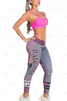 Show your love for the New England Patriots in these exclusive leggings made from the highest quality material. Limited Edition and once they are sold out they will not be back again!  These leggings are designed to regulate body temperature to keep you comfortable during any workout!   Wide waistband engineered to provide ample support and comfort with a low rise waist Approximate inseam for sizing is 24″ One size fits most in a S-M range