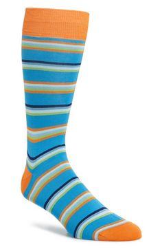 Bugatchi+Stripe+Cotton+Blend+Socks+available+at+#Nordstrom