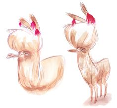 Llamas ★ || CHARACTER DESIGN REFERENCES | キャラクターデザイン  • Find more artworks at https://www.facebook.com/CharacterDesignReferences & http://www.pinterest.com/characterdesigh and learn how to draw: #concept #art #animation #anime #comics || ★