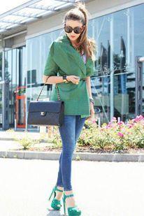 catalogo da c.c. Conjunto verde fashion.
