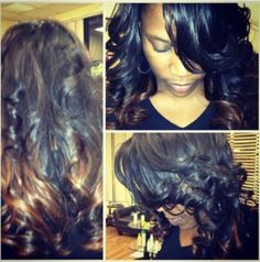 "#Hair #Model: Aneesha - wearing 16"" virgin Indian #Wavy"