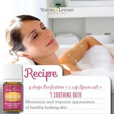 Epsom salt and essential oils together...amazing combo! They both have beneficial properties that can soothe the body, mind and soul.