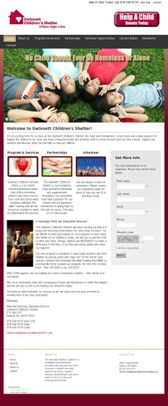 Home of Hope at Gwinnett Children's Shelter is a non-profit organization committed to helping children and their young mothers escape the horrors of homelessness. Portfolio Web Design, Helping Children, Child And Child, Non Profit, Shelter, Charity, Money, Amazing, Check