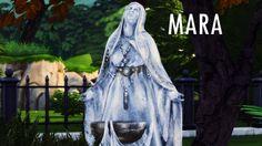 Mara, Dibella and Meridia statues at Azentase • Sims 4 Updates