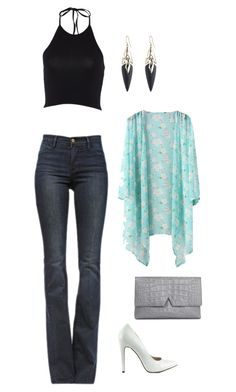 """""""Untitled #860"""" by netteskytte on Polyvore featuring Frame Denim, Michael Antonio, Vince and Alexis Bittar"""