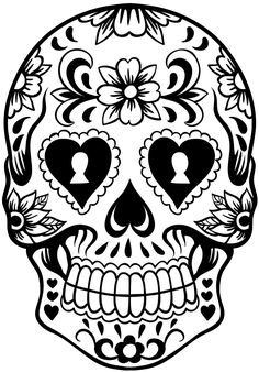 Sugar Skull Black And White Clip Art Galleryhipcom The Hippest Galleries