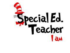 Dr. Seuss Special Education Teacher I Am SVG or by MandaNoelle