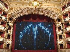 Reggio Emilia - Romolo Valli Municipal Theatre -  Stage Curtain and Box Seat Curtains.