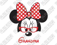 Minnie Mouse Grandma Cut File Set in SVG, EPS, DXF, JPEG, and PNG