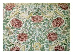 William Morris - The Rose Pattern fine art preproduction . Explore our collection of William Morris fine art prints, giclees, posters and hand crafted canvas products William Morris Wallpaper, Morris Wallpapers, Craftsman Wallpaper, Framing Canvas Art, Painting Prints, Art Prints, Botanical Art, Wall Tapestry, Poster Prints
