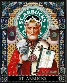 St. Arbucks, Patron Saint of Coffee Drinkers and Baristas