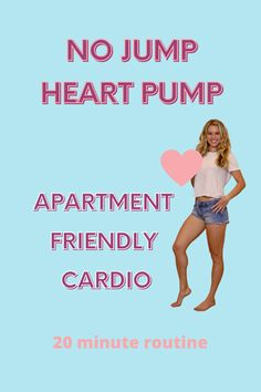 20 minuts of cardio you can do anywhere without any equipment! Apartment and joint friendly :) #cardio #fit #fitnessmotivation #homeworkout #aerobicexercises #apartmentfriendlyworkout Fitness Tips, Fitness Motivation, Heart Pump, Card Io, Weight Training, Strength Training, Workout Videos, At Home Workouts, Weight Loss