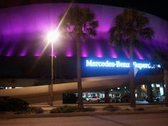 Mercedes Benz Superdome located in New Orleans, Louisiana.