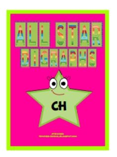$5  All Star Digraphs - This packet includes five vocabulary word banks for the following stories: Chewy Louie, Tough Chicks, Chilly Milly Moo, Goldie Locks has Chicken Pox, and Alex and the Wednesday Chess Club.