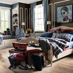 Tartan that is #timeless in clothing and house decoration gives an understated #elegance to the bedrooms. Oxford Dark Blue #Tartan #Bedding Set made of 100% #cotton that makes you feel #warm during the winter months and cool in summer offers a combination of #style and #comfort. #casualavenue #bedroom