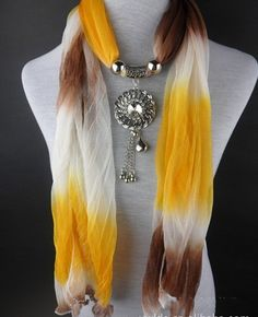 2013 Autumn Multicolored Medallion Jewelry Scarf