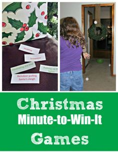 These fun Christmas minute to win it games & challenges for adults & kids will be a big hit at family gatherings, in the classroom & are perfect for Christmas Day activities! Christmas Games For Adults, Xmas Games, Holiday Games, Childrens Christmas, Christmas Party Games, Holiday Fun, Xmas Party, Games For Big Groups, Indoor Games For Kids