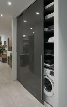 Modern Laundry Rooms, Laundry Room Design, Home Room Design, Dream Home Design, Bathroom Interior Design, Laundry Room Organization, Interior Modern, Luxury Interior, Kitchen Interior
