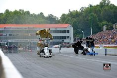 Antron Brown & Team in Atlanta Georgia for the Southern Nationals racing the Matco Tools T/F Dragster