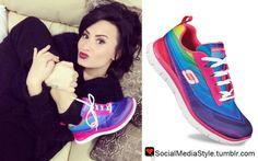 Buy Demi Lovato's Rainbow Skechers Flex Appeal Pretty Please Sneakers, here!