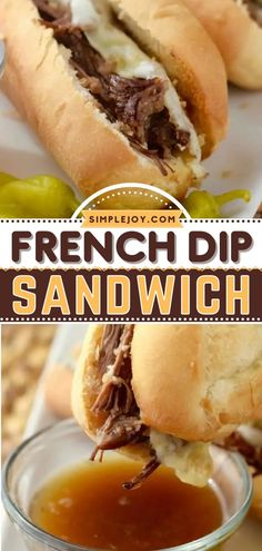 This slow cooker recipe is always a lifesaver! You are going to love these easy French Dip Sandwiches. Not only is this crock pot meal the perfect weeknight dinner, but it can also feed a crowd. Try it this Crocktober! Slow Cooker Recipes, Crockpot Recipes, Crock Pot Slow Cooker, Party Dip Recipes, Appetizer Recipes, Appetizers, French Dip, Feeding A Crowd, Chips Recipe
