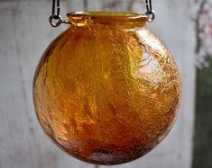 Hanging glass lantern, wedding candleholders