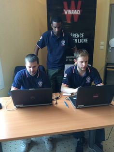#WinaCT - Jérémie, Antoine et Manu gèrent le tournoi iPad de main de maître. #Winamax #poker