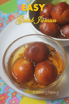 Super delicious gulab jamun recipe which is so yummy and is really easy to make. Indian Desserts, Indian Food Recipes, My Recipes, Dessert Recipes, Healthy Recipes, Indian Sweets, Healthy Food, Easy Gulab Jamun Recipe, Chicken Dum Biryani Recipe