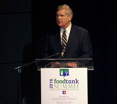 """""""A more nurturing opportunity, after they have seen the horrors of war."""" Tom Vilsack, Secretary of Agriculture -RE: USDA working with young veterans about becoming part of our next generation of farmers #foodtank WATCH LIVE NOW @ www.foodtank.com"""