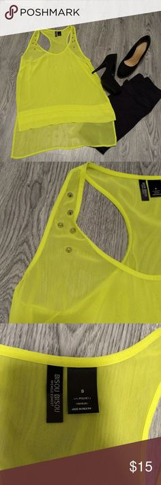 Yellow Studded Tank EUC! Worn once. Super cute studded detail. Tops