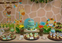 Boys First Birthday Jungle Themed Birthday Party