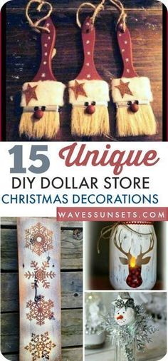 Cute #DIY Christmas decorations with supplies from the dollar store.