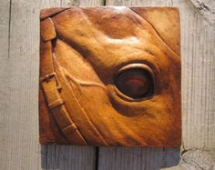 Wolf Howl Sculptured Picture Tile by SculptureGeek on Etsy