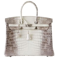 HERMES BIRKIN 35 bag Blanc Himalaya exquisite skin Limited Edition SOLD | From mightychic.com or at https://www.1stdibs.com/fashion/handbags-purses-bags/top-handle-bags/
