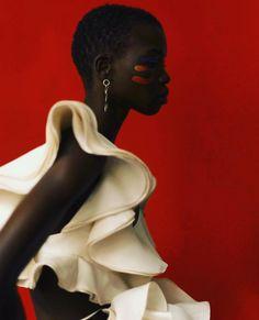 NOVICA Noir et Rouge de Bois et Laiton Africain Murale Masque Peace be Unto You