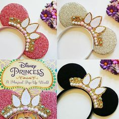 Items similar to Made-To-Order Rapunzel Crown Minnie Mouse Ears Disney Princess Minnie Headband Glitter Tiara on Etsy Disney Minnie Mouse Ears, Minnie Mouse Headband, Diy Disney Ears, Disney Headbands, Ear Headbands, Minnie Mouse Party, Disney Diy, Disney Crafts, Making Hair Bows