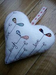 Felt heart  --- lovely