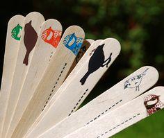 Birdie plant markers