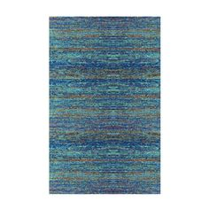 This elegant rug has a unique design reminiscent of a great impressionist-style painting. Featuring soft streaks of color, it's hand-woven in India from 100% cotton.