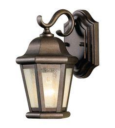 76 10 Feiss Martinsville 1 Light Outdoor Wall Sconce In Corinthian Bronze OL5900CB Lightingnewyork